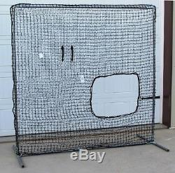 Softball Safety Screen 7' x 7' Professional Galv Frame with Heavy Duty 60ply Net