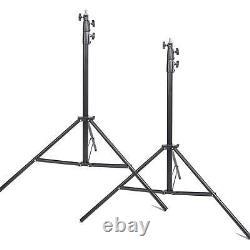 Studio Light Stand x2 3m Heavy Duty Air Cushioned Adjustable Professional Tripod