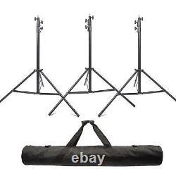 Studio Light Stand x3 3m Heavy Duty Air Cushioned Adjustable Professional Tripod