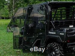 SuperATV Heavy Duty Full Cab Enclosure Doors for Kawasaki Mule Pro FXT / DXT