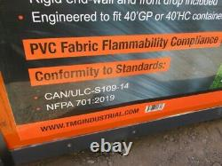 TMG Industrial Pro Series 30x40x10' Container Shelter/ Heavy Duty 17oz Fabric
