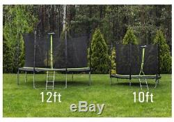 Trampoline 12ft 2in1 Safety Net Ladder Spring Rain Cover Tool 366cm HEAVY DUTY