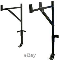 Truck Ladder Rack Steel Single Sided Adjustable Multi Use Heavy Duty Pro 250 Lb