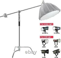 US Professional Heavy Duty Studio C-Stand with Gobo Arm Grip Heads Century Stand
