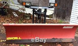 Used Western 7'6 pro plow, Snow Plow, Red, Heavy Duty, Professional