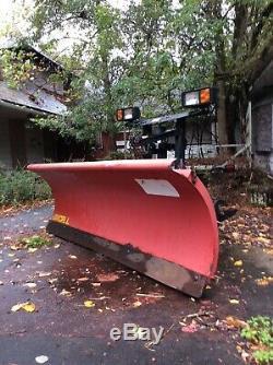 Used Western 7'6 pro plow, Snow Plow, Red, Heavy Duty, Professional