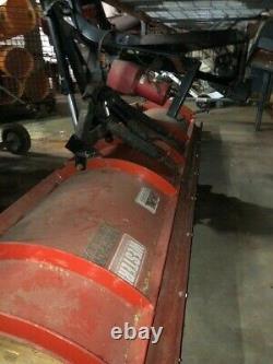 Used Western 8'6 pro plow, Snow Plow, Red, Heavy Duty, Professional