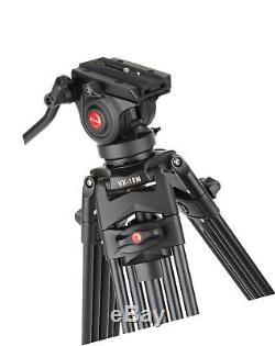 VILTROX VX-18M Professional Heavy Duty Video Camcorder Tripod with Fluid Drag