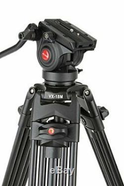 VILTROX VX-18M Professional Heavy Duty Video Tripod with Fluid Drag Head