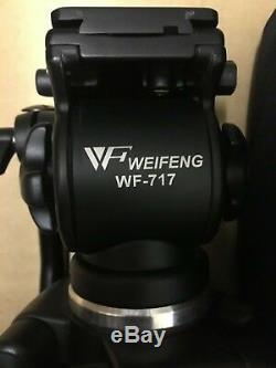 Weifeng WF-717 1.8m Professional Heavy Duty Video Camera Tripod With Fluid Head