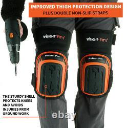 WrightFits Robust Pro Gel Knee Pads Heavy Duty Gel Cushion Knee Protection DIY