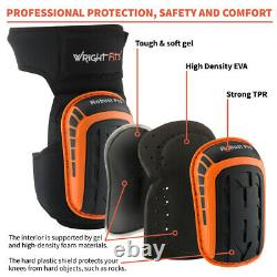 WrightFits Robust Pro Knee Pads For Work Heavy Duty Gel Cushion Knee Safety