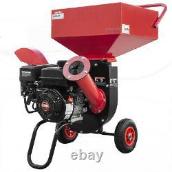 XPUSA 6.5HP Heavy Duty 212cc Gas Powered 31 Pro Wood Chipper Shredder with Wheel