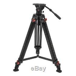 XTK-8018 Professional Heavy Duty DV Video Camera Tripod Fluid Pan Head 71 Inch