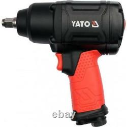 Yato professional heavy duty 1/2 twin hammer air impact wrench 1150 Nm YT09540