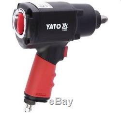 Yato professional heavy duty 1/2 twin hammer air impact wrench 1356 Nm YT-0953