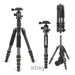 ZOMEI Pro Carbon Fiber Q666C Tripod Heavy Duty Lightweight with 360° Ball Head