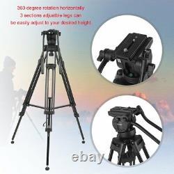 ZOMEI Professional Heavy Duty Camcorder Tripod Camera Tripod Fluid Head VT666