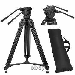 ZOMEI Professional Heavy Duty DV Video Camera Tripod with Fluid Pan Head VT666