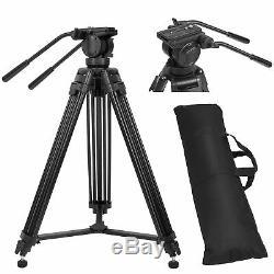 ZOMEI VT666 Professional Heavy Duty DV Video Camera Tripod with Fluid Pan Head